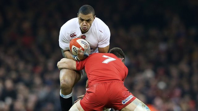 Luther Burrell is tackled by Sam Warburton