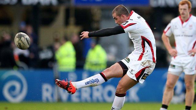 Ruan Pienaar strikes a penalty for Ulster