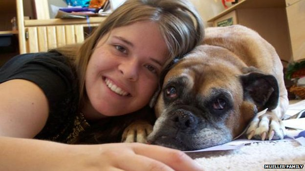 Kayla Mueller and her dog