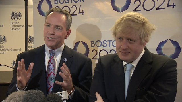 Boris gives Olympic advice in US