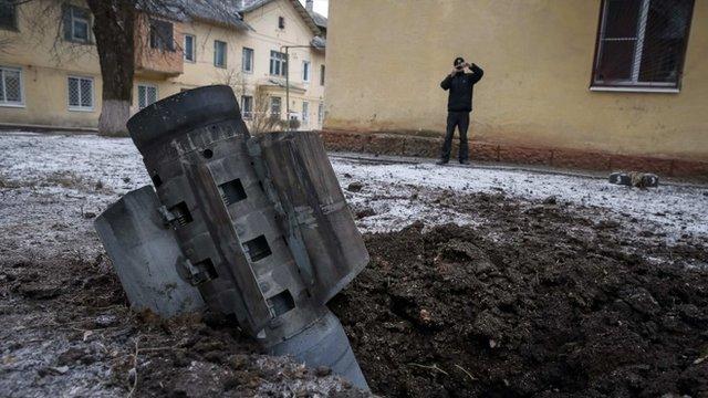 Remains of a rocket in Kramatorsk