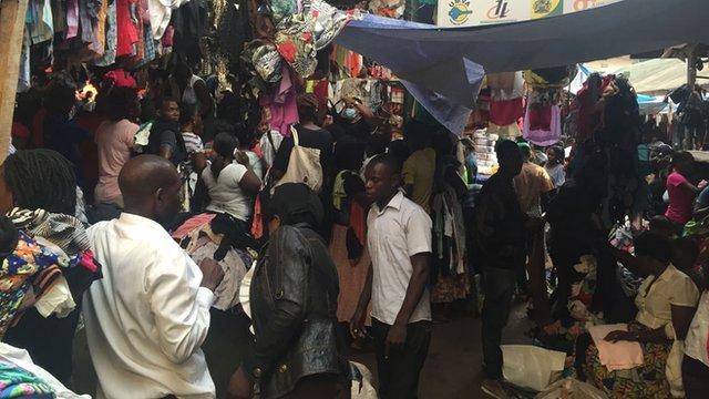 Kampala second-hand clothes market