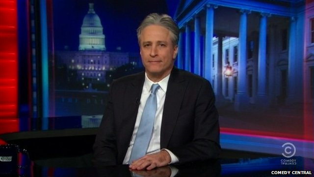 Jon Stewart announcing his departure from Comedy Central's 'The Daily Show'