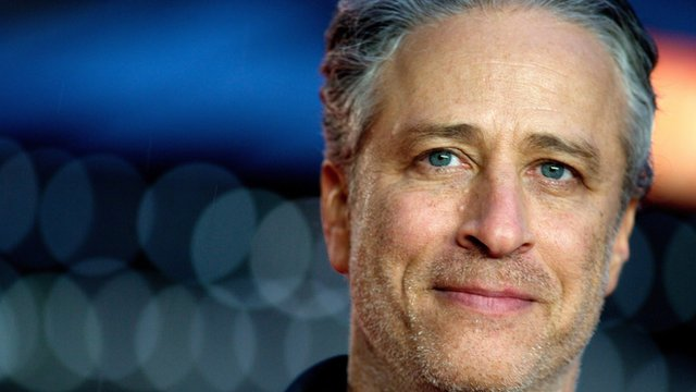 "File picture dated 12 October 2014 shows US political satirist, writer, producer and director Jon Stewart arriving for the premiere of ""Rosewater"" at the 58th BFI London Film Festival, in London"