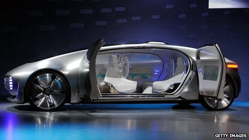 Mercedes self-drive car