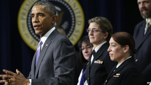 President Barack Obama speaks about the Ebola outbreak response by the U.S. in West Africa, 11 February 2015