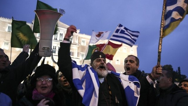 Pro-government rally in Athens