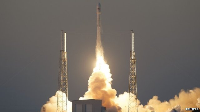 Falcon 9 rocket launches from Cape Canaveral Air Force Station