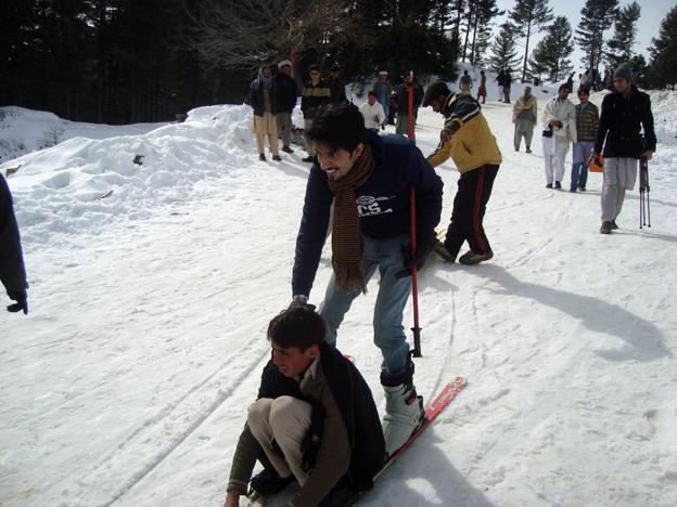 Man on skis