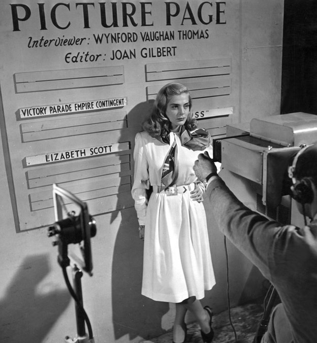 American actress Lizabeth Scott appearing in Picture Page