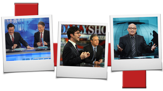 Stephen Colbert, John Oliver and Larry Wilmore