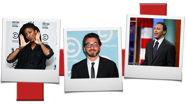 Jessica Williams, Al Madrigal and Aasif Mandvi