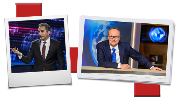 Bassem Youssef and Oliver Welke