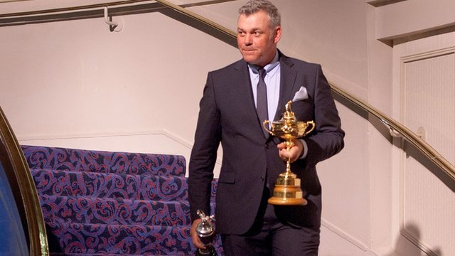 Darren Clarke was a vice-captain when Europe won the Ryder Cup in 2012