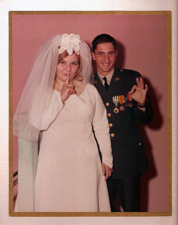 Carmen Bifulco and John Wojtowicz at their wedding in 1967