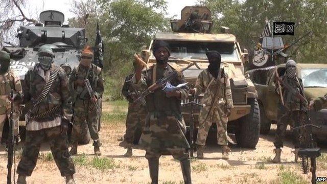 Screen grab from Boko Haram video