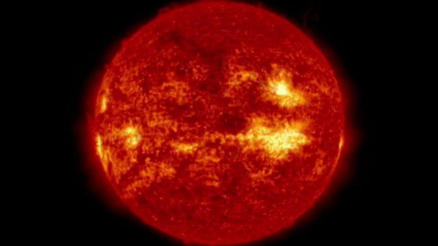 Time-lapse footage of the Sun