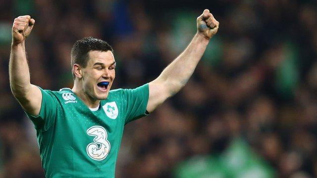 Jonny Sexton kicked five penalties as Ireland ran out winners 18-11