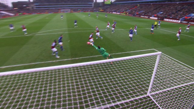 Shay Given makes a great save