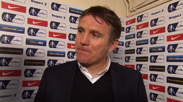 Phil Parkinson is interviewed after his side's win