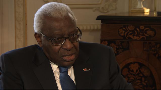 IAAF president Lamine Diack