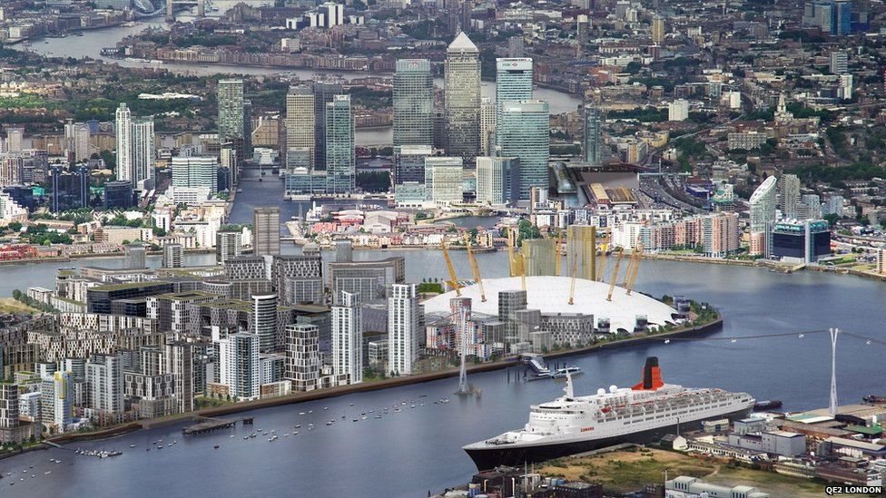 How the QE2 would look in London