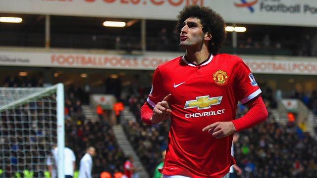 FA Cup: Marouane Fellaini puts Man Utd into lead