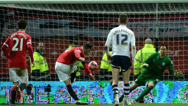FA Cup: Preston 1 Manchester United 3 (Wayne Rooney 88')