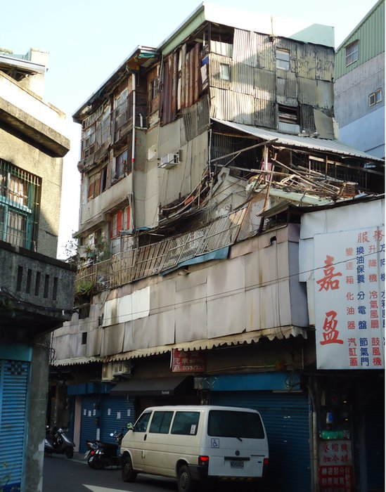 Picture of illegal structures in Taiwan