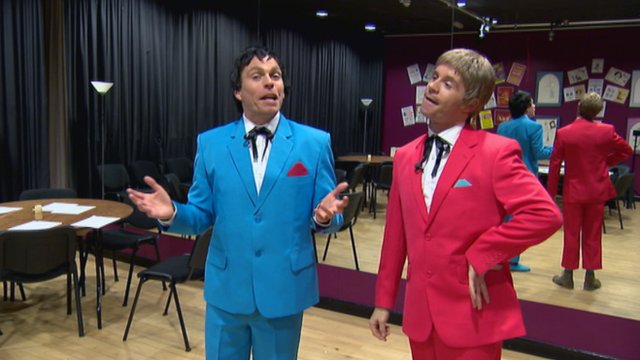 Liam Dolan and Johnny Mac as Francie and Josie