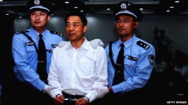 Chinese politician Bo Xilai being sentenced in Beijing 22/09/2013