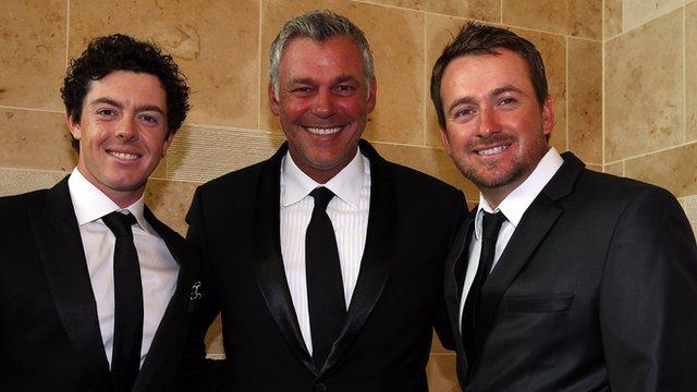 Rory McIlroy, Darren Clarke and Graeme McDowell
