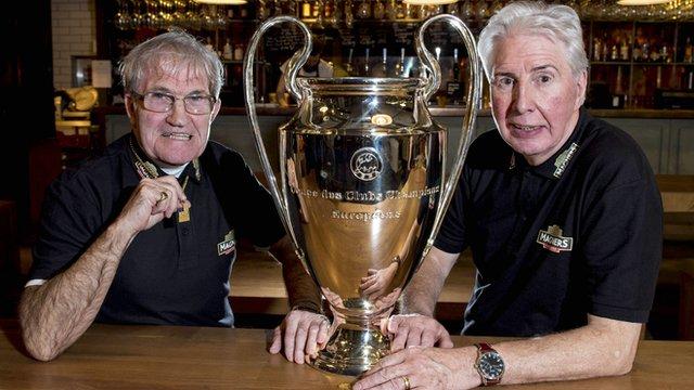 Lisbon Lions Bertie Auld and Jim Craig