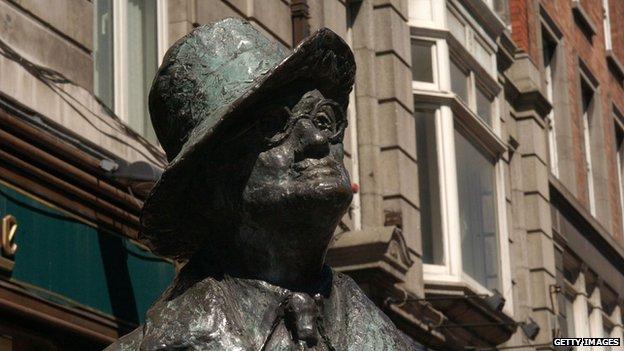 The James Joyce statue in Dublin