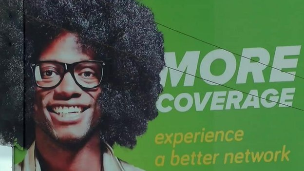 An advert for a mobile phone network in Malawi