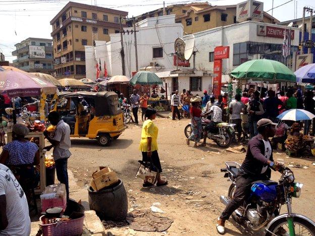 motorbikes at market
