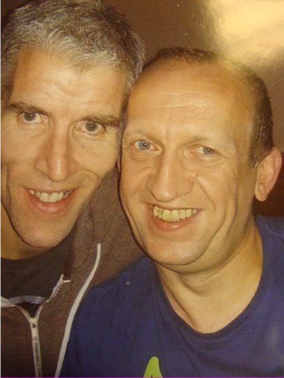 Paul Finlay-Dickson with his civil partner Maurice, who died of cancer last month