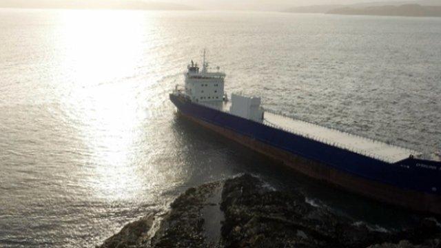 Lysblink Seaways cargo ship run aground