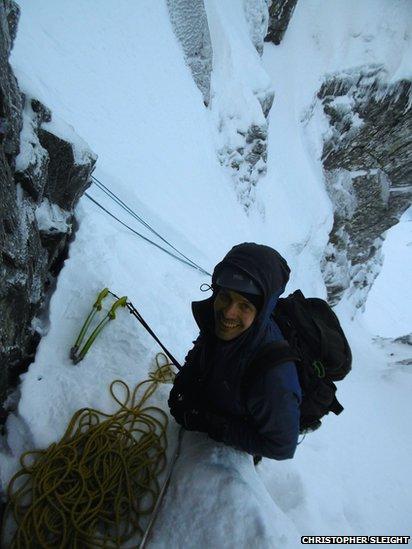 Scott climbing on Ben Nevis