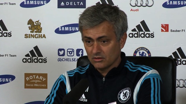 """Chelsea manager Jose Mourinho says the club """"feel ashamed"""" after a video showed fans preventing a black man from boarding a Paris train, but says he """"refuses to be connected"""" with those involved"""