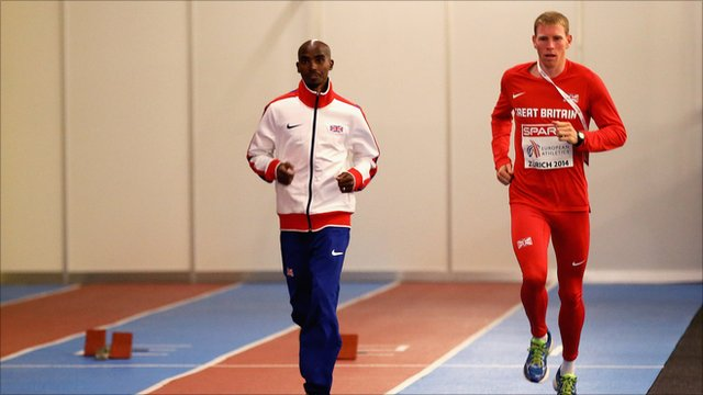 Mo Farah (left) and Andy Vernon (right)