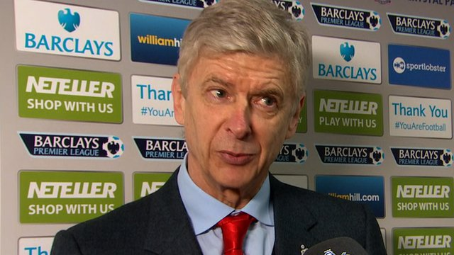 A relieved Arsene Wenger