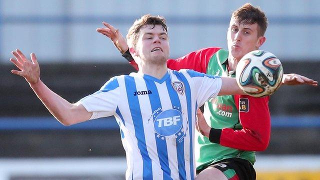 Coleraine drew 1-1 with Glentoran