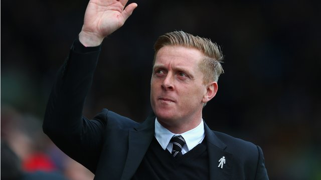 Swansea City manager Garry Monk during his side's 2-1 victory over Manchester United.