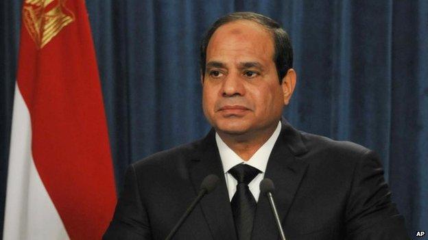 President Abdel Fattah al-Sisi on 16 February 2015