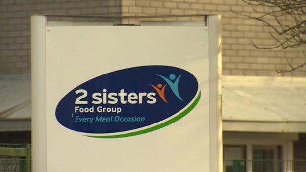 2 Sisters factory sign, Llangefni