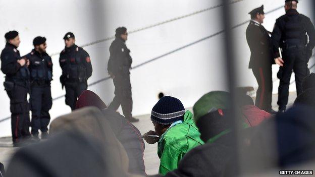 Migrants in Lampedusa