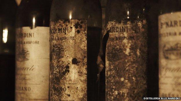 Grappa in old bottles (Nardini)