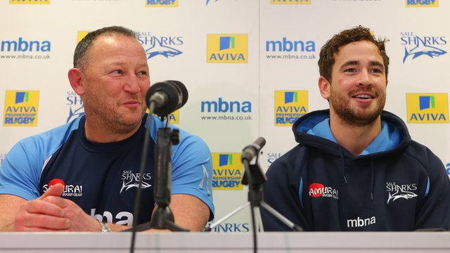 Steve Diamond (l) and Danny Cipriani