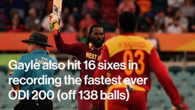 Gayle's stunning innings in numbers